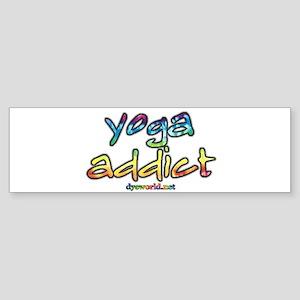 yoga addict Sticker (Bumper)