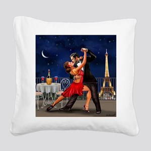 Dancing Under the Stars Square Canvas Pillow