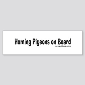 Homing Pigeons On Board Bumper Sticker