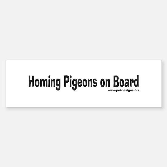 Homing Pigeons On Board Bumper Bumper Bumper Sticker
