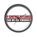 Can We Use Swords? Wall Clock