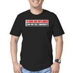 Can We Use Swords? Men's Fitted T-Shirt (dark)
