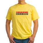 Can We Use Swords? Yellow T-Shirt