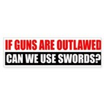 Can We Use Swords? Sticker (Bumper 50 pk)