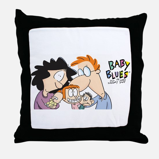 Baby Blues-Family portrait Throw Pillow
