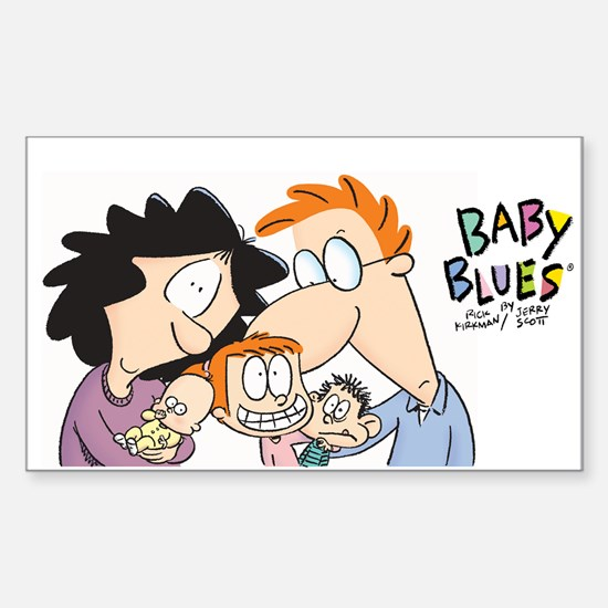 Baby Blues-Family portrait Sticker (Rectangle)
