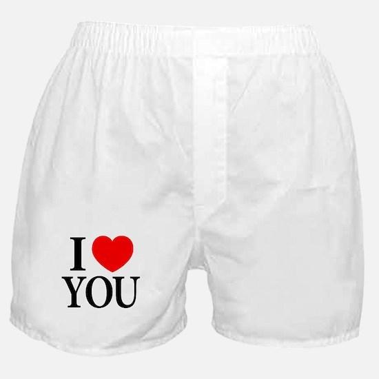 I Love You Boxer Shorts