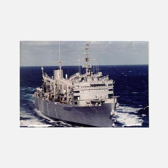 USS Camden AOE 2 Ship's Image Rectangle Magnet