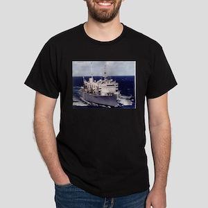 USS Camden AOE 2 Ship's Image Dark T-Shirt
