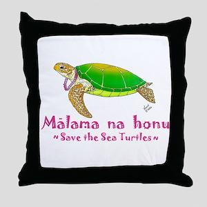 Honu Throw Pillow