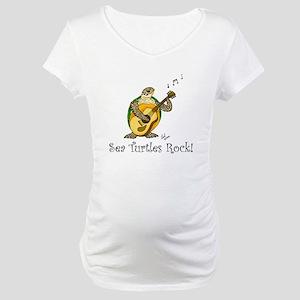 Sea Turtles Rock Maternity T-Shirt
