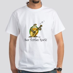 Sea Turtles Rock White T-Shirt