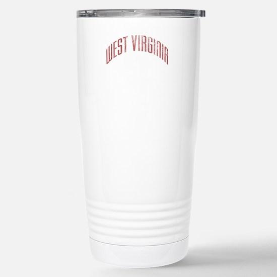 West Virginia Grunge Stainless Steel Travel Mug