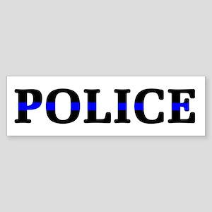 Police Blue Line Sticker (Bumper)