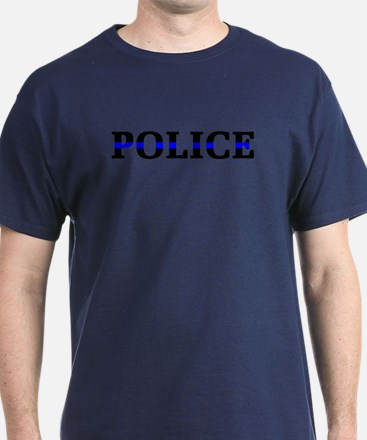 Police Blue Line T-Shirt