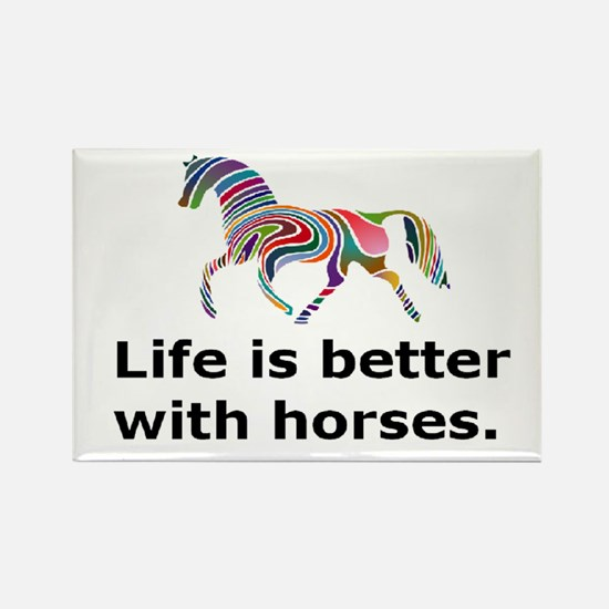 Cute Equine art Rectangle Magnet