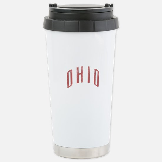 Ohio Grunge Stainless Steel Travel Mug