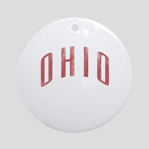 Ohio Grunge Ornament (Round)