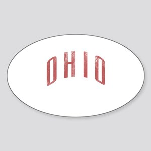 Ohio Grunge Sticker (Oval)