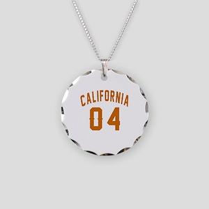 California 04 Birthday Desig Necklace Circle Charm