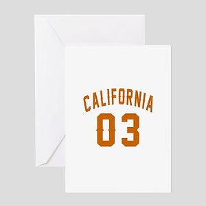 California 03 Birthday Designs Greeting Card