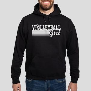 Volleyball Girl Hoodie (dark)