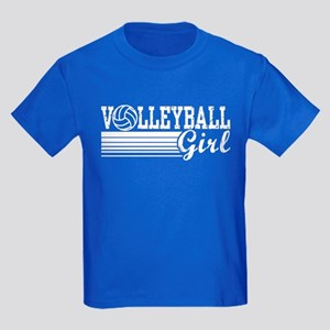Volleyball Girl Kids Dark T-Shirt