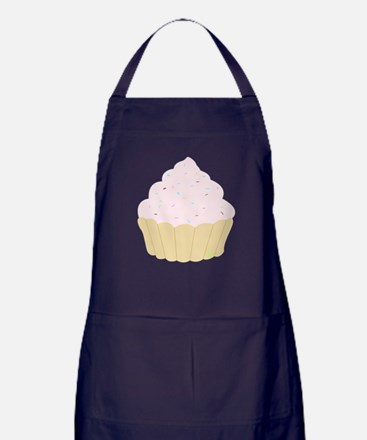 Cute Vegan cupcakes Apron (dark)