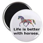 """Color """"Life is Better"""" Magnet"""