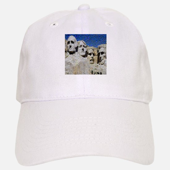 Mount Rushmore Photo Mosaic Baseball Baseball Cap
