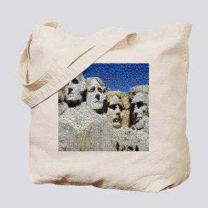Mount Rushmore Photo Mosaic Tote Bag