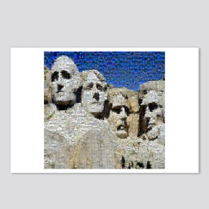 Mount Rushmore Photo Mosaic Postcards (Package of
