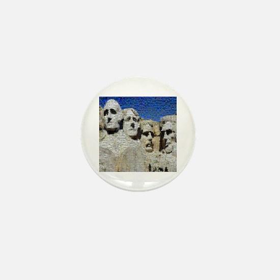 Mount Rushmore Photo Mosaic Mini Button
