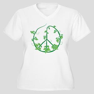Green Peace Women's Plus Size V-Neck T-Shirt