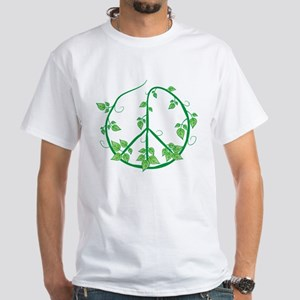 Green Peace White T-Shirt