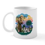 St Francis #2/ Shih Tzus (4) Mug