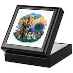 St Francis #2/ Shih Tzus (4) Keepsake Box