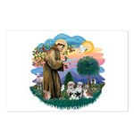 St Francis #2/ Shih Tzus (4) Postcards (Package of