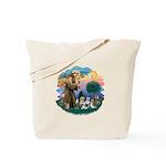 St Francis #2/ Shih Tzus (4) Tote Bag