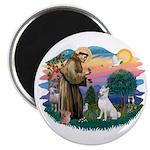 St Francis #2/ S Husky (W) Magnet