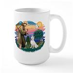 St Francis #2/ S Husky (W) Large Mug