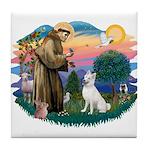 St Francis #2/ S Husky (W) Tile Coaster