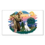 St Francis #2/ S Husky (W) Sticker (Rectangle)