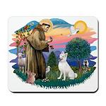 St Francis #2/ S Husky (W) Mousepad