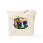 St Francis #2/ S Husky (W) Tote Bag