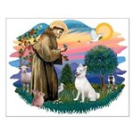 St Francis #2/ S Husky (W) Small Poster