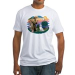 St Francis #2/ S Husky (W) Fitted T-Shirt
