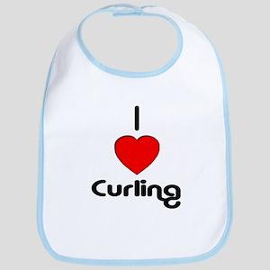 I Love Curling Bib