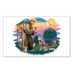 St Francis #2/ S Husky #2 Sticker (Rectangle)