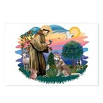 St Francis #2/ S Husky #2 Postcards (Package of 8)